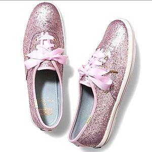 Keds Kate Spade glitter sneaker - babypink (sz: 7)